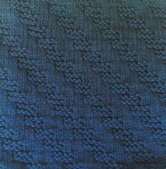 Knitting Galore: Saturday stitch  Stepping Garter Stitch. Difficulty Level : Easy