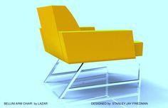 Bellini Arm Chair by LAZAR. Design; Stanley Jay Friedman