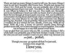 Couldn't have said it any better myself. I love you Braydan<3