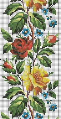 APEX ART is a place for share the some of arts and crafts such as cross stitch , embroidery,diamond painting , designs and patterns of them and a lot of othe. 123 Cross Stitch, Easy Cross Stitch Patterns, Simple Cross Stitch, Cross Stitch Flowers, Cross Stitch Designs, Beaded Embroidery, Cross Stitch Embroidery, Hand Embroidery, Embroidery Designs