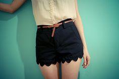 trouser shorts scallop
