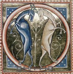 The Ashmole Bestiary | Late 12th or early 13th century English illuminated manuscript Bestiary containing a creation story and detailed allegorical descriptions of over 100 animals. Rich colour miniatures of the animals are also included. The Aberdeen Bestiary (Aberdeen University Library MS 24) may have been created by the same artist. | Bodleian Library MS. Ashmore 1511.
