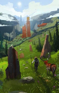 """The Longest Journey"": The Superb Post-Apocalyptic And Sci-Fi Concept Art By I. ""The Longest Journey"": The Superb Post-Apocalyptic And Sci-Fi Concept Art By Ismail Inceoglu Discover the art of Ismai Concept Art Landscape, Fantasy Concept Art, Game Concept Art, Fantasy Landscape, Landscape Art, Fantasy Artwork, Landscape Design, Landscape Rocks, Landscape Curbing"