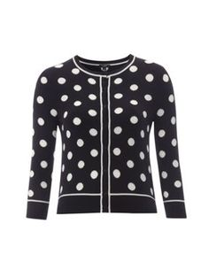 Navy Spotted Cardigan