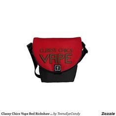 Classy Chics Vape Red Rickshaw Messenger Bag #vape #vapebags #vapeproducts ##accessories #ecig #zazzle #teenseyecandy