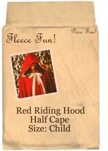 Red riding hood cape pattern and tutorial
