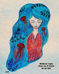viola': {Medusas rojas}