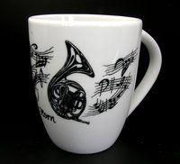 Tasse Horn ♫♪ ☕ www.musiker-geschenke.com/Tassen