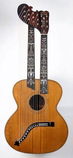 spacebeach23: c. 1910 Weymann Harp Guitar fromhttp://www.harpguitars.net/ Lardys Chordophone of the day 2017 --- https://www.pinterest.com/lardyfatboy/ #acousticguitar