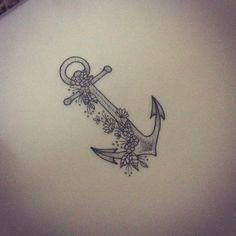 Anchor with flowers tattoo by Medusa Lou Tattoo Artist - medusa_lou@hotmail.com