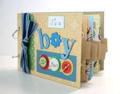 Baby Scrapbook Mini Album Premade It's A Boy by ScrapbookGallery