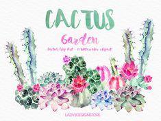 Imágenes Prediseñadas de cactus 17 acuarela imágenes