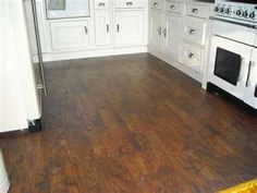 Kitchen in Karndean Karndean Flooring, Kitchen Flooring, Hardwood Floors, Kitchen Ideas, Decorating Ideas, Wood Floor Tiles, Wood Flooring, Kitchen Floor