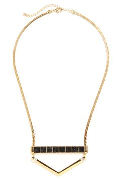 A Stone's Row Gold Necklace at Lulus.com!