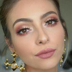 3 Looks using Anastasia Beverlyhills Modern Renaissance Palette. Tutorial up o 3 Looks using Anastasia Beverlyhills Modern Renaissance Palette. Tutorial up o. Pink Eye Makeup, Pink Eyeshadow, Glam Makeup, Makeup Inspo, Bridal Makeup, Makeup Inspiration, Makeup Ideas, Makeup Tips, Peach Makeup Look