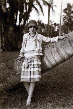 "Kittyinva: 1926 screen-writer and author of ""Gentlemen Prefer Blondes"" Anita Loos in 1926 in Palm Beach."
