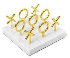 Jonathan Adler Marble & Brass Tic-Tac-Toe Set    #affiliatelink