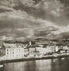 Navia en 1956. Foto en FB de: Asturias. En blanco y negro