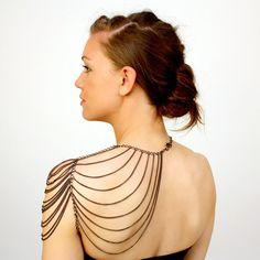epaulette chain body jewelry // SPAULDER aka the by urbaneARMOR, $120.00
