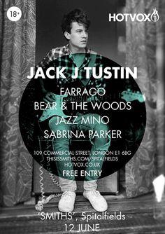 .@Hot_Vox is back at Spitalfields on #Friday with Jack J Tustin Farrago Bear & The Woods Jazz Mino Sabrina Parker Music