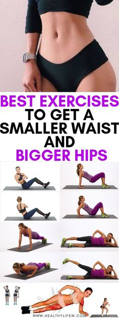 Getting a smaller waist and big hips can be easy by ing the 3 steps listed in this article how to get a smaller waist and big hips -diet and exercise Waist Shaping Exercises, Knee Exercises, Belly Exercises, Fitness Exercises, Waist Slimming Exercises, Stretches, Daily Exercise Routines, At Home Workouts, Ab Workouts
