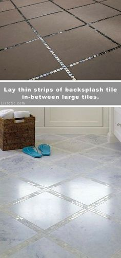 Mini tile grout lines #GlitterGrout #GlitterRoom