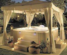Backyard Hot Tub…romantic