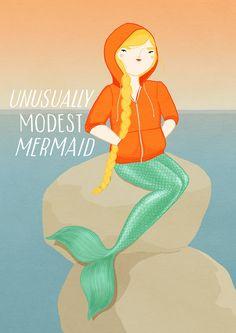 Image of Unusually Modest Mermaid