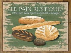 Le Pain Rustique Metal Sign on Rustic Barn Wood Frame retro French kitchen decor Vintage Diy, Vintage Metal Signs, Decoupage Vintage, Rustic French Country, French Country Decorating, Rustic Barn, French Kitchen Decor, Country Kitchen, Retro
