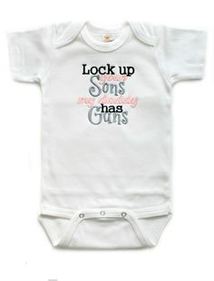 Lock Up Your Sons Baby Girls Bodysuit - Baby Shower Gifts - Daddy | All That Sass Boutique  http://www.allthatsassboutique.com/collections/retail/products/lock-up-your-sons