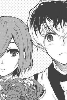 Touka and Sasaki ||| Tokyo Ghoul