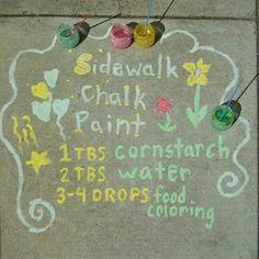 DIY sideway chalk paint