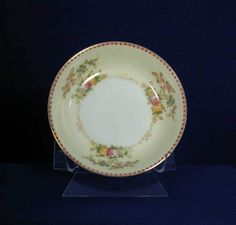 Meito Japan Pattern Marjorie White Coupe Fruit Bowl bfe2298 #Meito