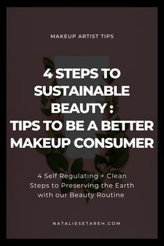"""There is a massive impact on the earth from hard-to-recycle cosmetic packaging, as well as ingredients in the products that aren't just harmful to the planet (particularly aquatic and marine life) but also to us! It really all comes down to self-regulation and making """"cleaner"""" choices can help preserve us and the earth. Easy Makeup Tutorial, Makeup Tutorial For Beginners, How To Wear Makeup, Power Of Makeup, Makeup Needs, Self Regulation, Cosmetic Packaging, Simple Makeup, Marine Life"""