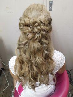 ルーズハーフアップ | 松戸・新松戸の美容室 hair space COCO 松戸店のヘアスタイル | Rasysa(らしさ)