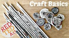 DIY Newspaper Rolls & Coils - Craft Basics