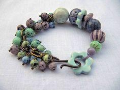 Speckles  handmade bracelet art bead bracelet by somethingtodo, £35.50