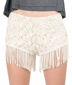 FRINGE CROCHET SHORTS at HelloShoppers