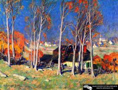 Lonely Village On The Saint Lawrence Artwork By Clarence Gagnon Oil Painting & Art Prints On Canvas For Sale Canadian Painters, Canadian Artists, Impressionist Paintings, Landscape Paintings, Fall Paintings, Artist Painting, Artist Art, Quebec, Clarence Gagnon