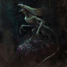 Morrowind / Daedra / Clannfear, Fury on Elder Scrolls Oblivion, Skyrim, Fantasy Creatures, All Art, Fantasy Art, Concept Art, Demons, Tabletop, Artwork