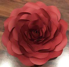SVG Paper Flower Template Digital Version Original Design