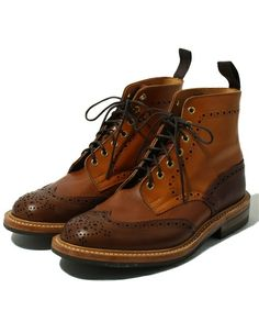 Tricker's(トリッカーズ)のTricker's CRAZYCALF COUNTRY BOOTS(ブーツ)|ブラウン