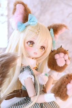 Anime W, Anime Toys, Anime Chibi, Kawaii Anime, Pretty Dolls, Beautiful Dolls, Ooak Dolls, Blythe Dolls, Kawaii Doll