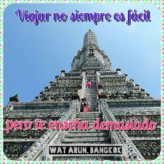 #Viajar no siempre es fácil...  #templo #budismo #travel #quotes