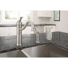 Moen Kitchen Double Sink with 1 Handle Faucet with Side Spray