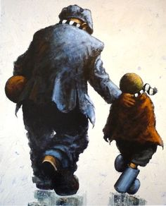 'H'way the Lads' by Alexander Millar (Exclusive to Castle Galleries Newcastle) Norman Cornish, Norwegian Wood, Art Addiction, Art Of Beauty, Painting People, Watercolor Paintings, Watercolour, Cover Up Tattoos, Various Artists