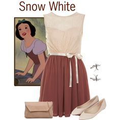 Snow White by violetvd on Polyvore featuring polyvore fashion style Miss Selfridge Topshop