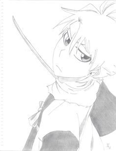 Just a note: His eyes were the WORST things to draw ;_; I still think I don't have them right.  Toshiro Hitsugaya, Bleach