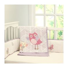 chirpy friends coverlet via Polyvore featuring home, children's room and children's bedding