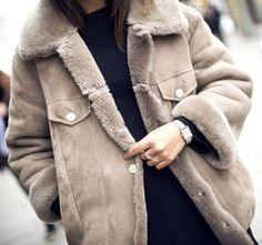 We need this shearling jacket in our life.